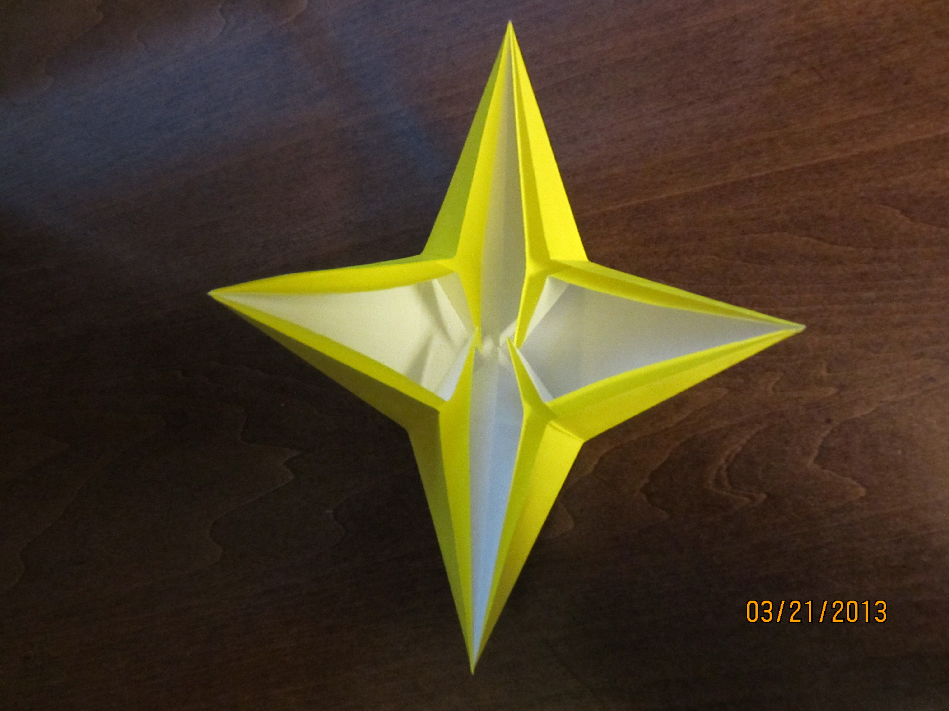 Daily Origami #42: Four-Pointed Star by Naganeboshni on ... - photo#2