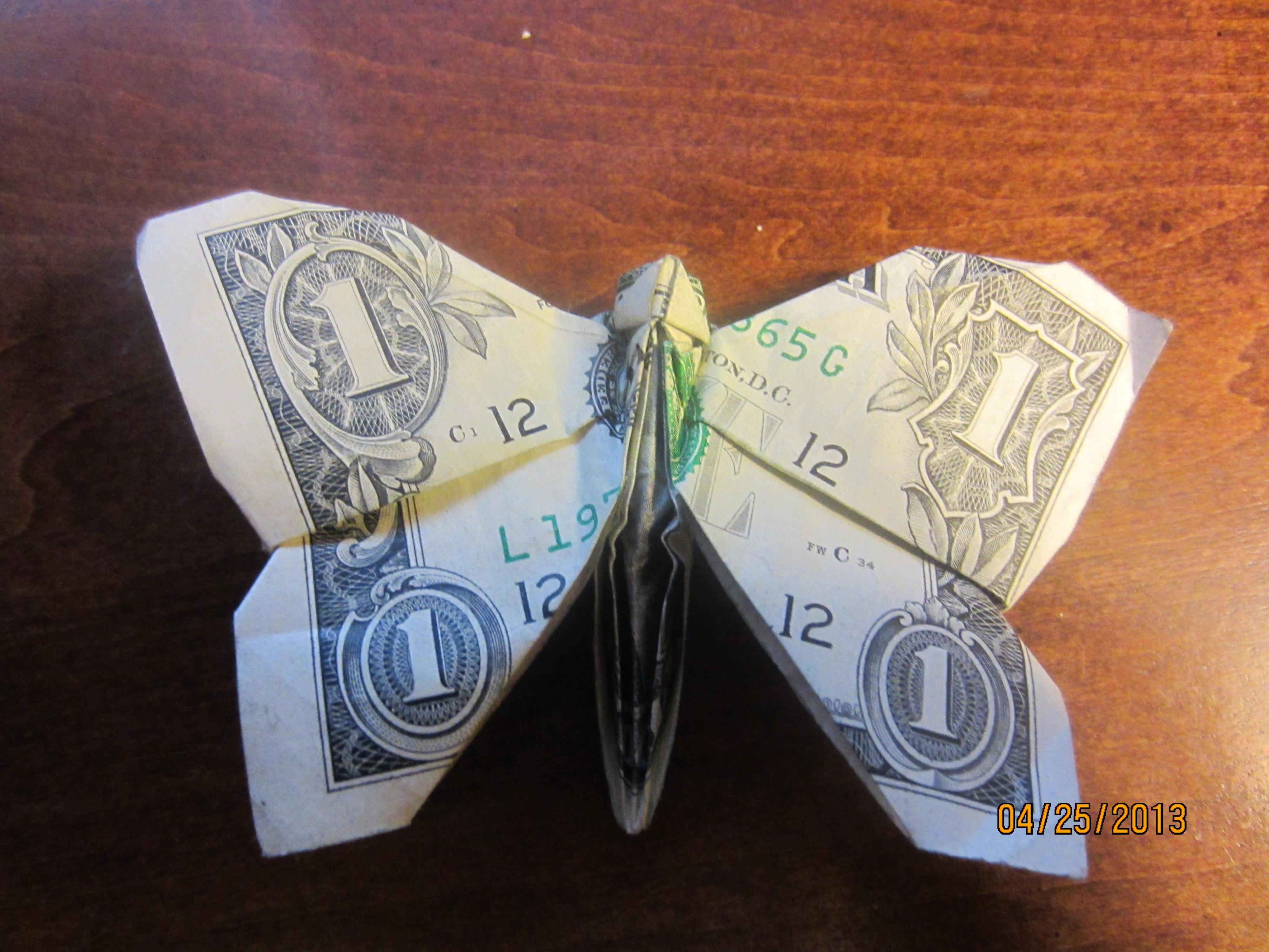 Dollar Origami Butterfly by Naganeboshni on DeviantArt - photo#14