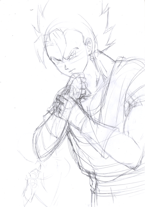 Vegetto Sketch by nekoni