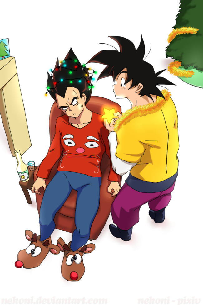 Vegeta The Christmas Tree by nekoni