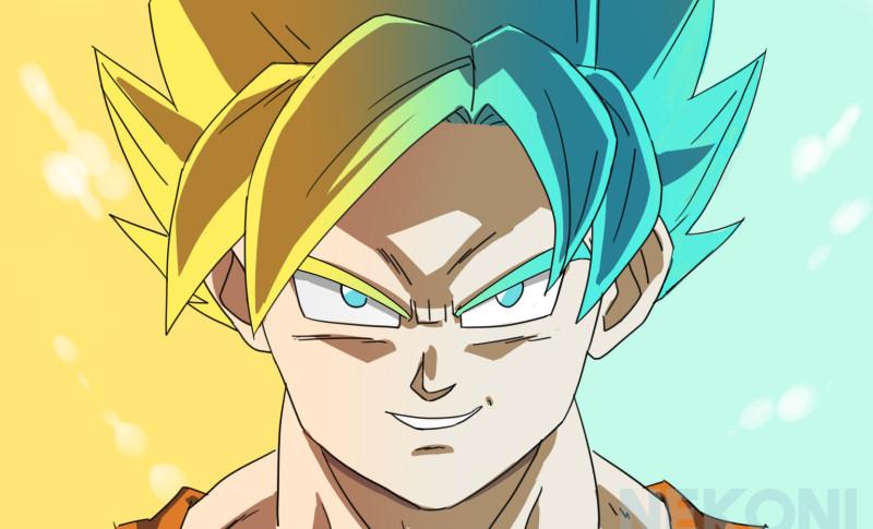 Super Saiyan Gold and Blue by nekoni