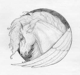 Pegasus - head study by SheWolff