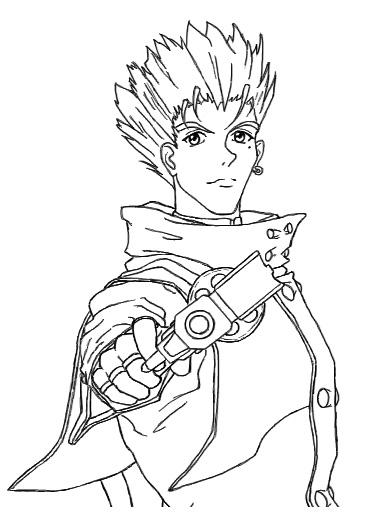 trigun coloring pages | Vash lineart by SheWolff on DeviantArt
