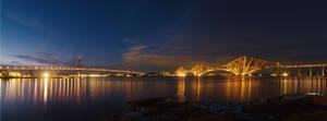 The Forth Bridges at night