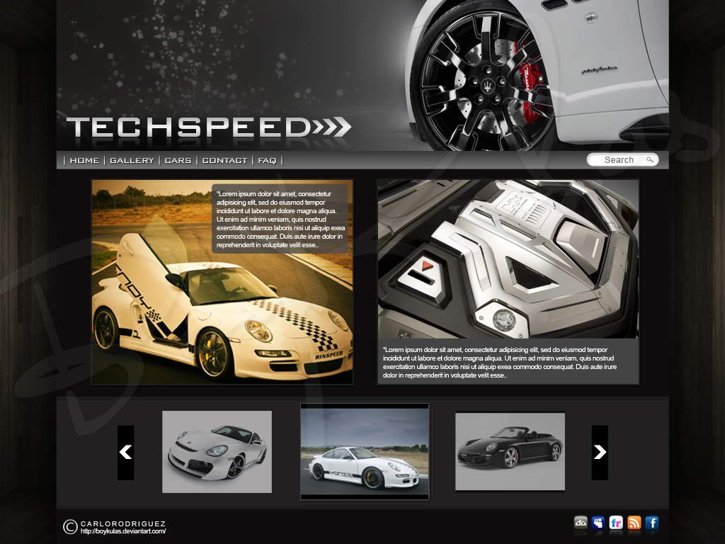 Techspeed Sample Webpage by boykulas on DeviantArt