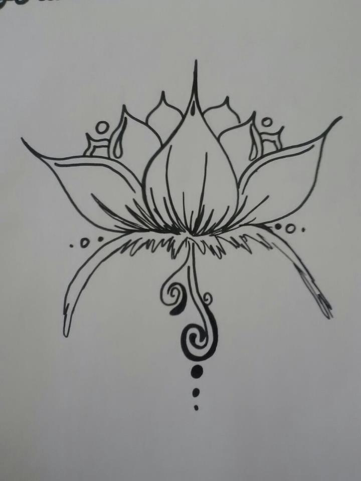 henna lotus design by burdenarrow