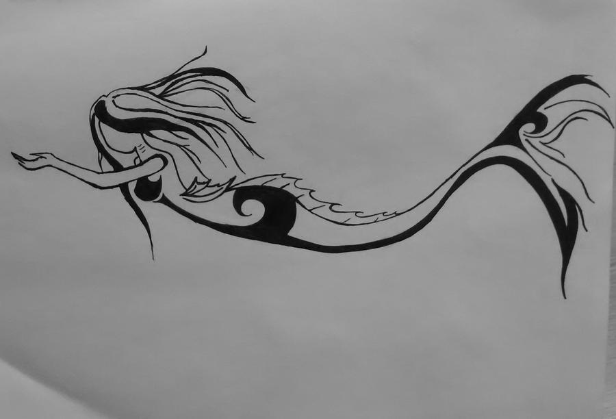 TriBAL Mermaid by BurdenArrow on DeviantArt