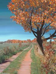 Autumn in Powassan Ontario by dwsingleton