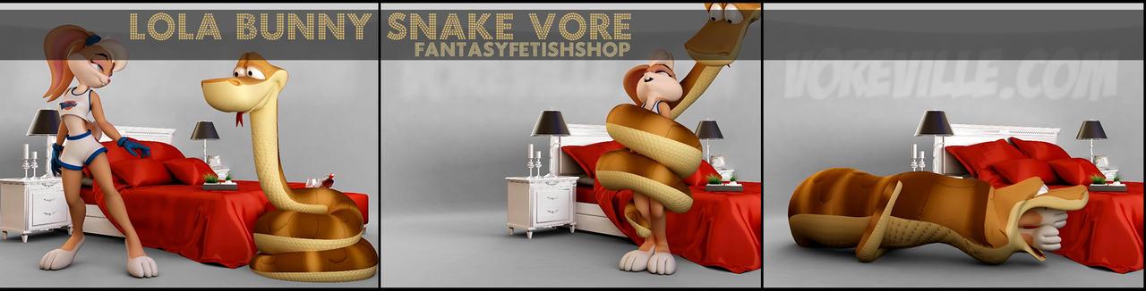 FantasyFetishShop Lola Bunny Snake Vore Animation