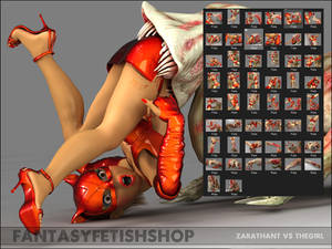 Zarathant vs The Girl Vore Image Series