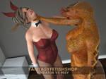Slilith Snake Woman Predator vs Bunny Girl Prey