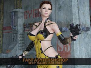Sexy Gamer Girl Prey 02