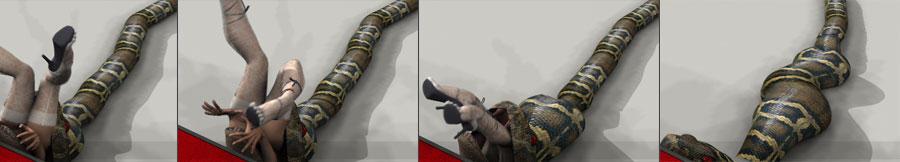 Snake Vore Animation by johnjohnvv