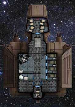 Custom Lambda Interior/ Deck Plan