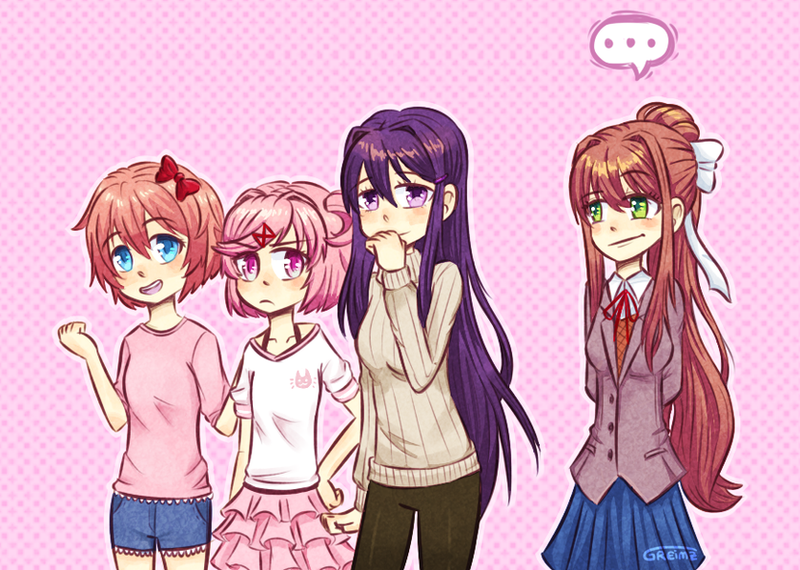 Best girls in Casual Wear | DDLC by Greimz on DeviantArt