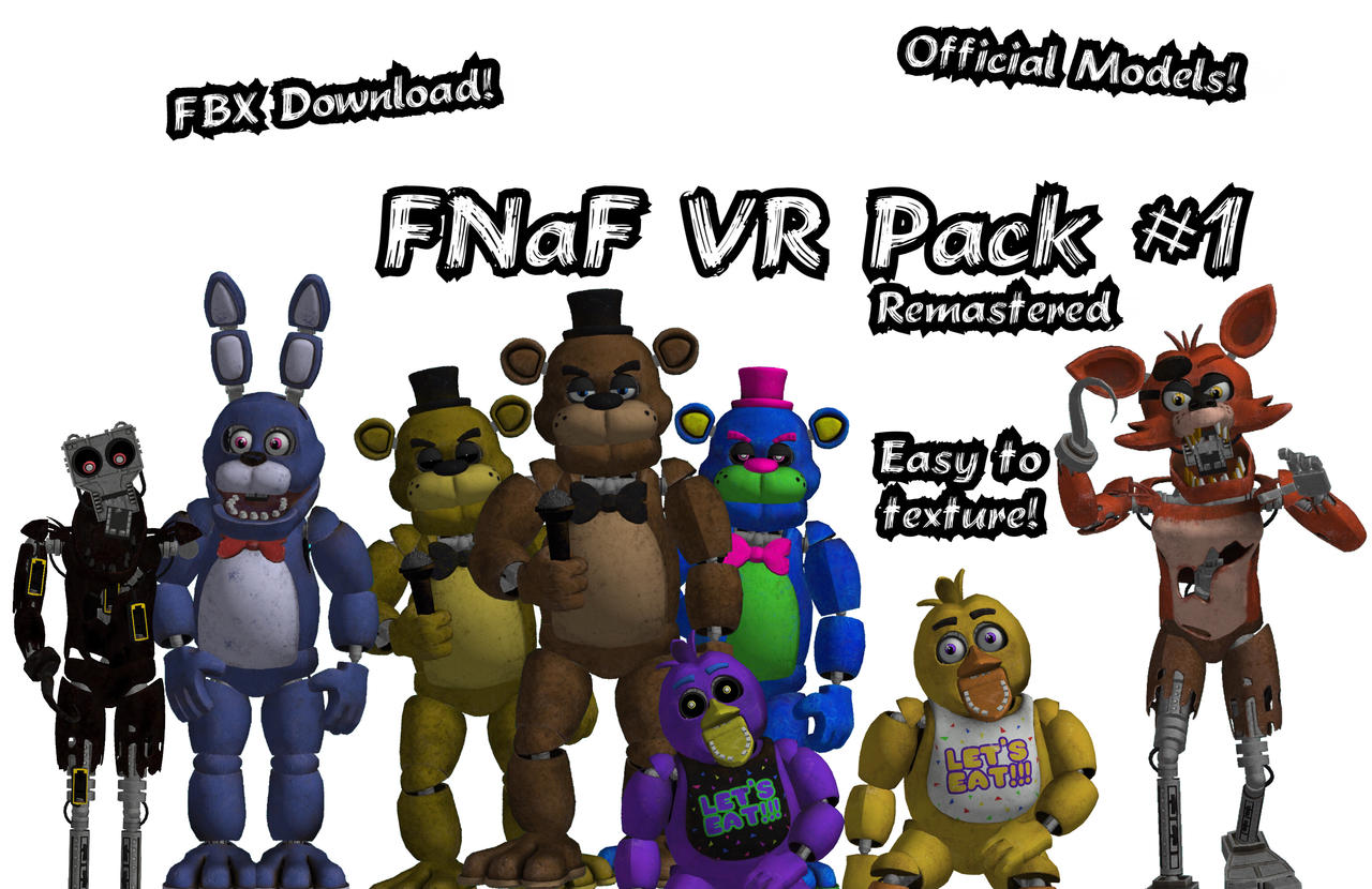 FNaF 1 VR FBX Pack Download by JDoubled1234 on DeviantArt