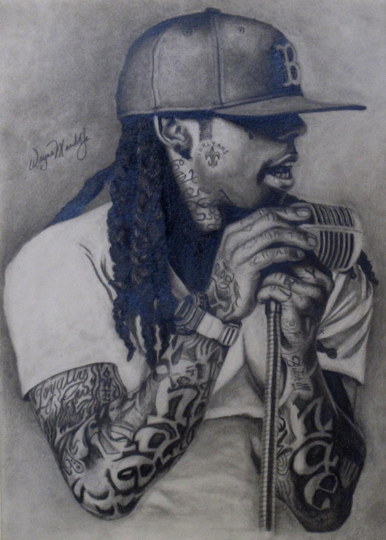 How To Draw Lil Wayne With Pencil Lil wayne portrait drawing by