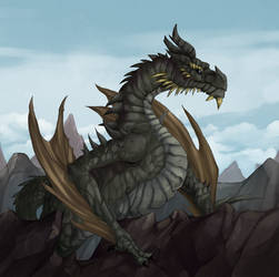 Paarthurnax - Skyrim by Gotetho