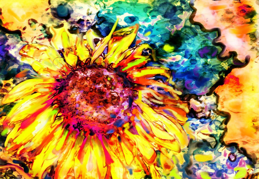 Happy Sunflower by Tanya-Dawn-Art