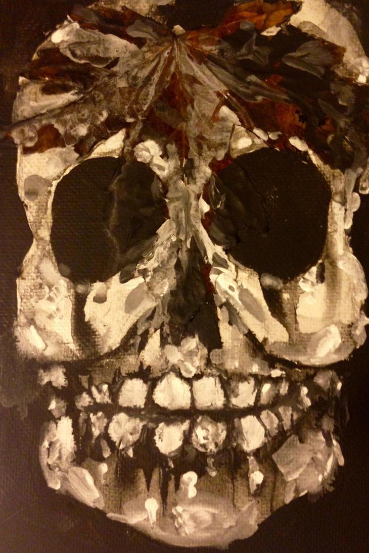 Leaf Skull by Tanya-Dawn-Art
