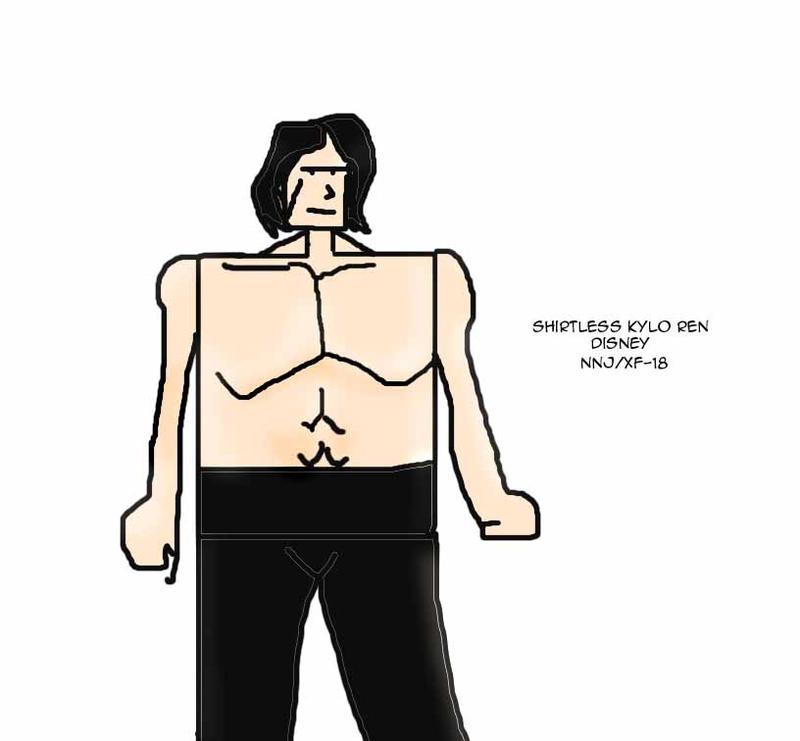Shirtless Kylo Ren by Xiao-Fury