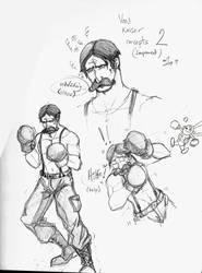 Punch Out Wii - Von Kaiser Sketches