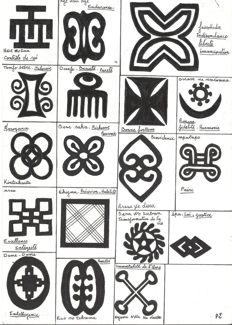 adinkra symbols and meanings pdf