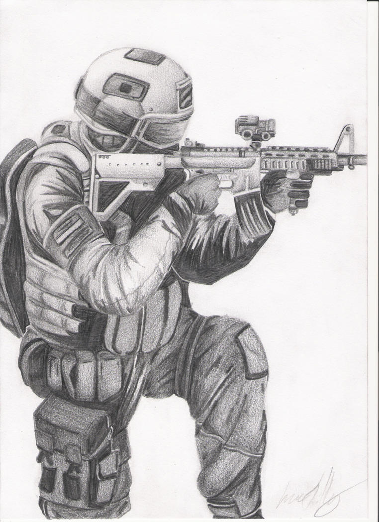 american soldier drawing - photo #22