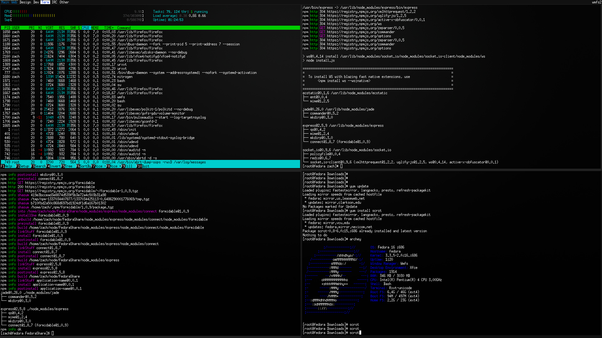 Fedora Workstation (With WMFS) by ZachSnyder on DeviantArt