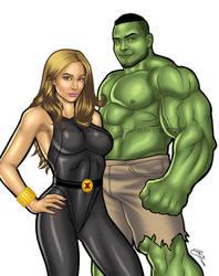25.12.17 | Commission Art Black Widow and Hulk by urbanmusiq