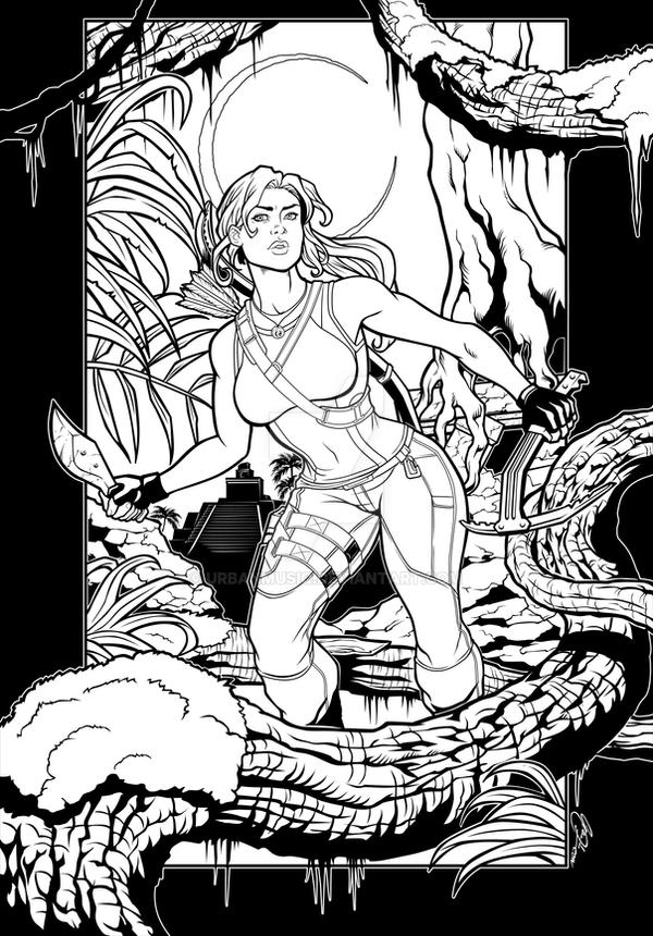 Tomb Raider Coloring Book Competition Submission by urbanmusiq