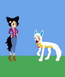 Angelina Zuniga and Hesaki Yamato by CartoonAnimeFan2000