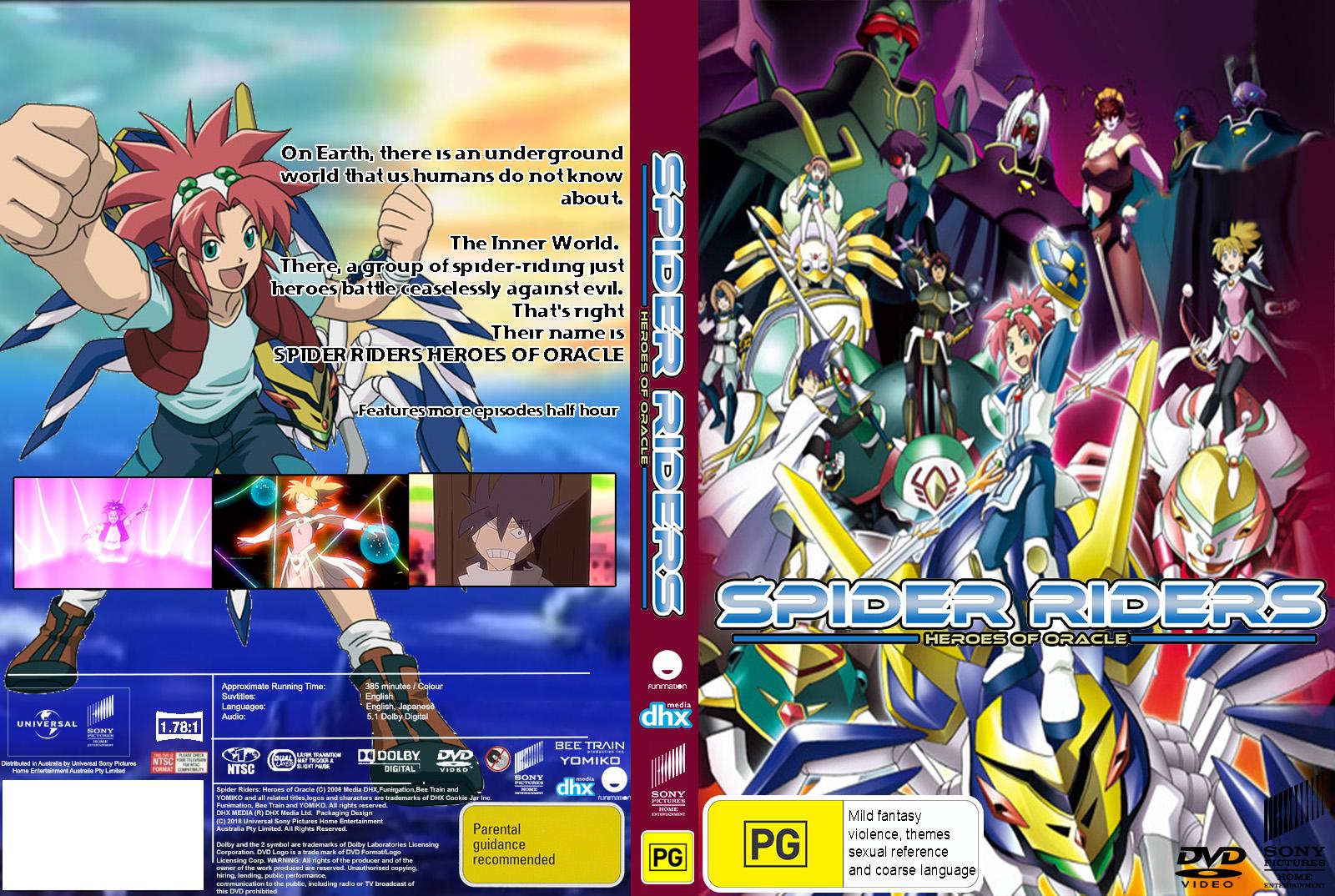 Spider Riders Heroes Of Oracle Dvd Australia Cover By Cartoonanimefan2000 On Deviantart