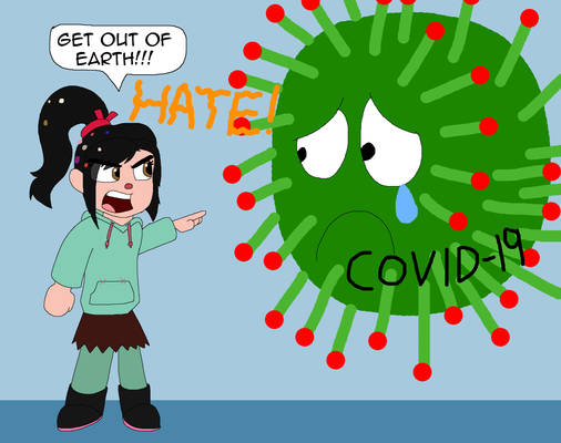 Vanellope angrily request to leave the virus