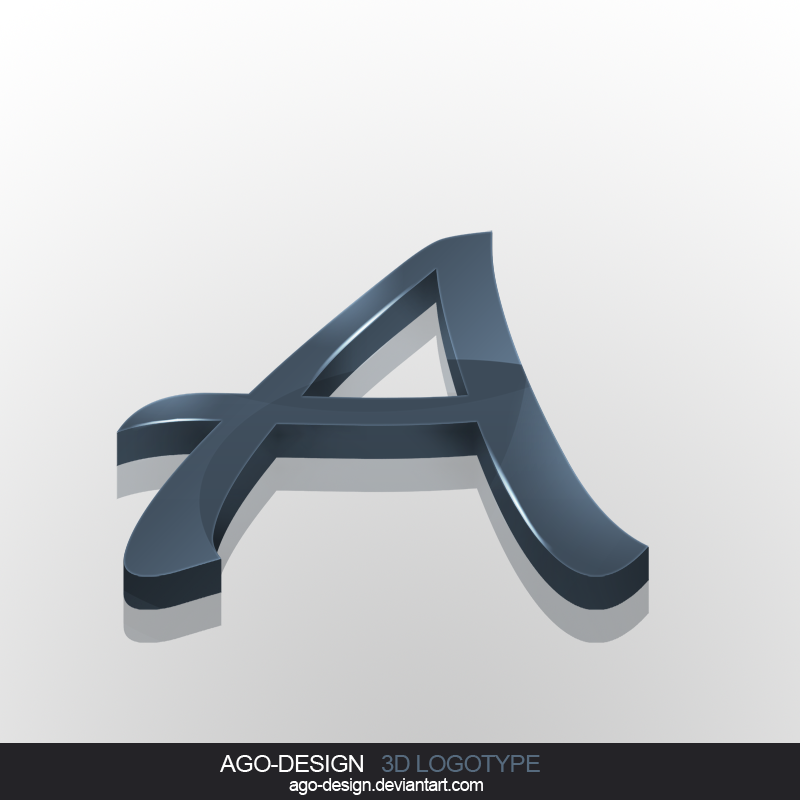 Letter a 3d logotype by ago design on deviantart letter a 3d logotype by ago design altavistaventures Gallery