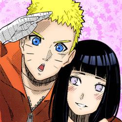 Naruto y Hinata by JacksBlacksART