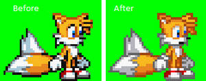 New Tails's sprite