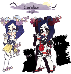 Day 31: Coraline - 1/2 OPEN AUCTION - by jawlatte