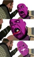 Thanos vs. Thor by samueldavillo