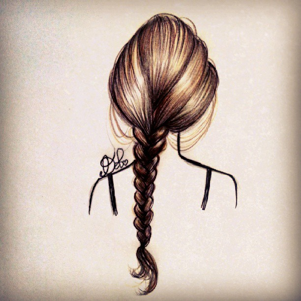 Hair Drawing Tumblr BraidHair Tumblr Braid