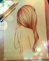Long Brown Hair by ~DebbyArts