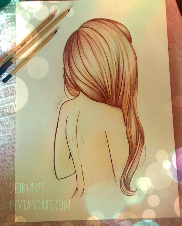 how to draw brown ponytail for girls