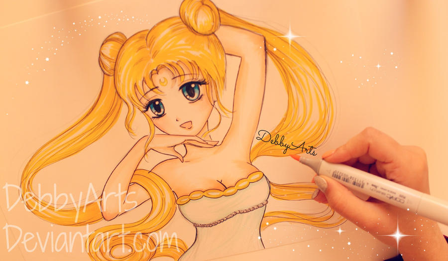 BACK TO '90 - SAILOR MOON by DebbyArts