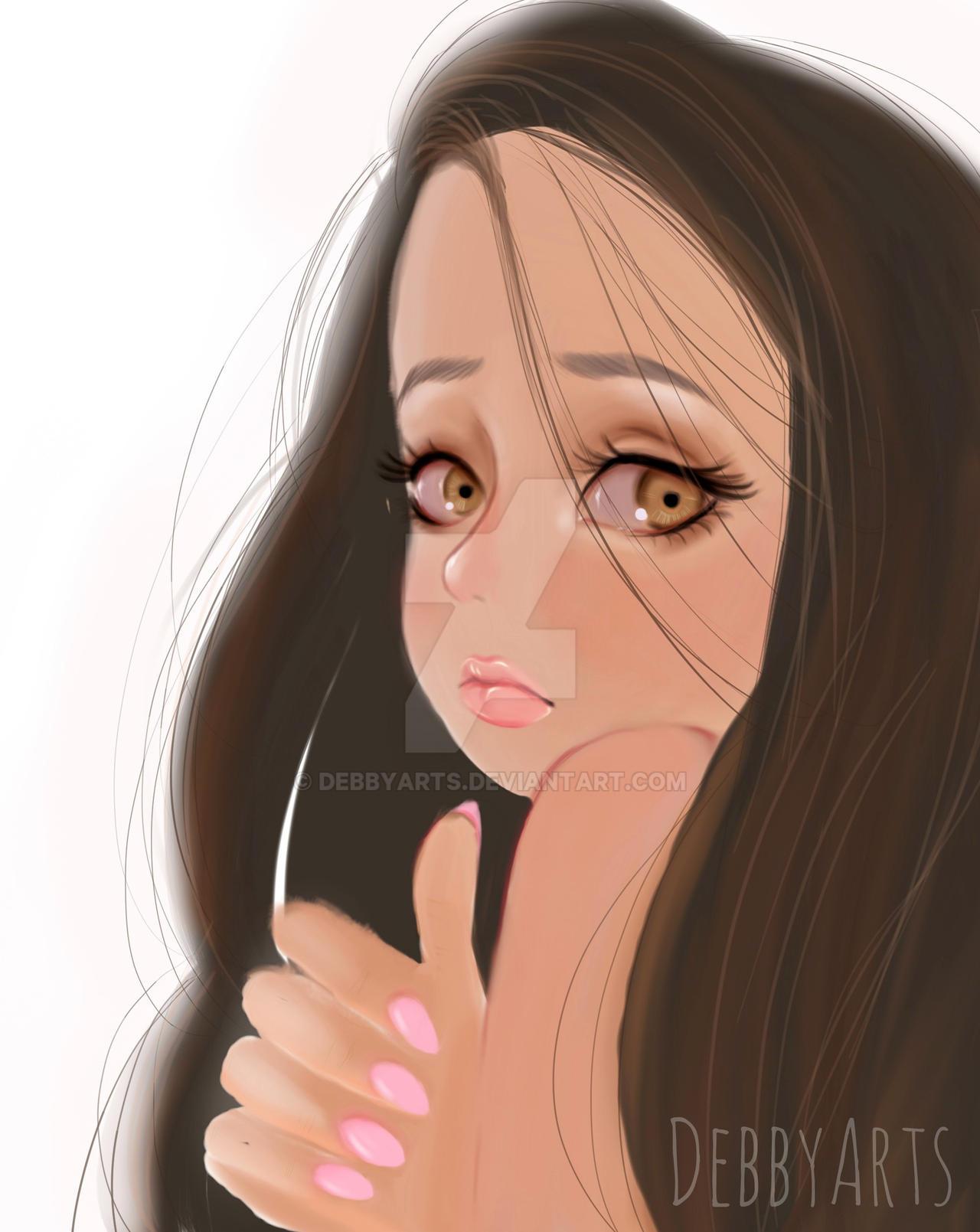 Girl Digital - Realistic Style by DebbyArts