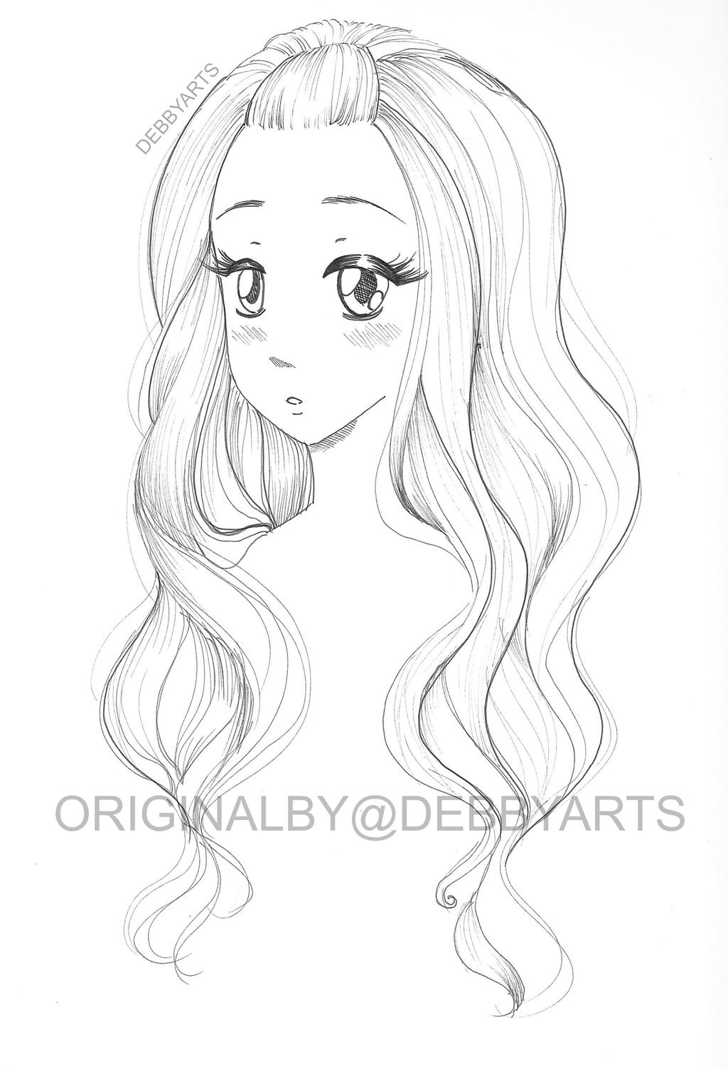 Hair colouring drawing free download by debbyarts on for Sketch online free
