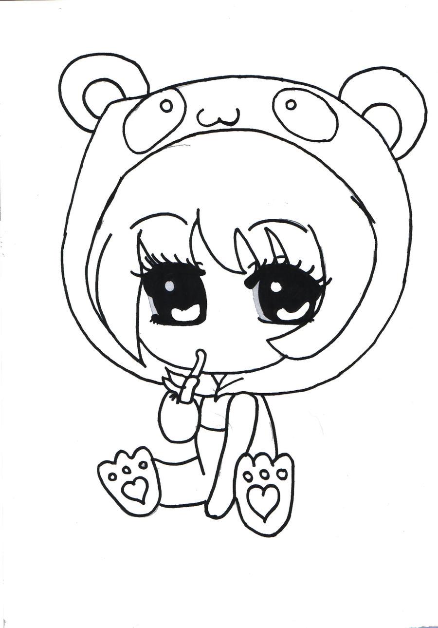 cute panda chibi outlined by x xanimenerdx x on deviantart