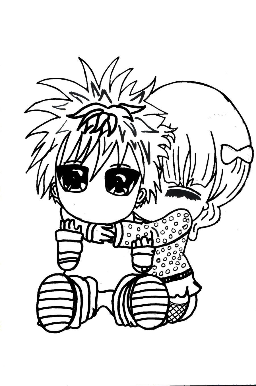 Emo chibi coloring pages