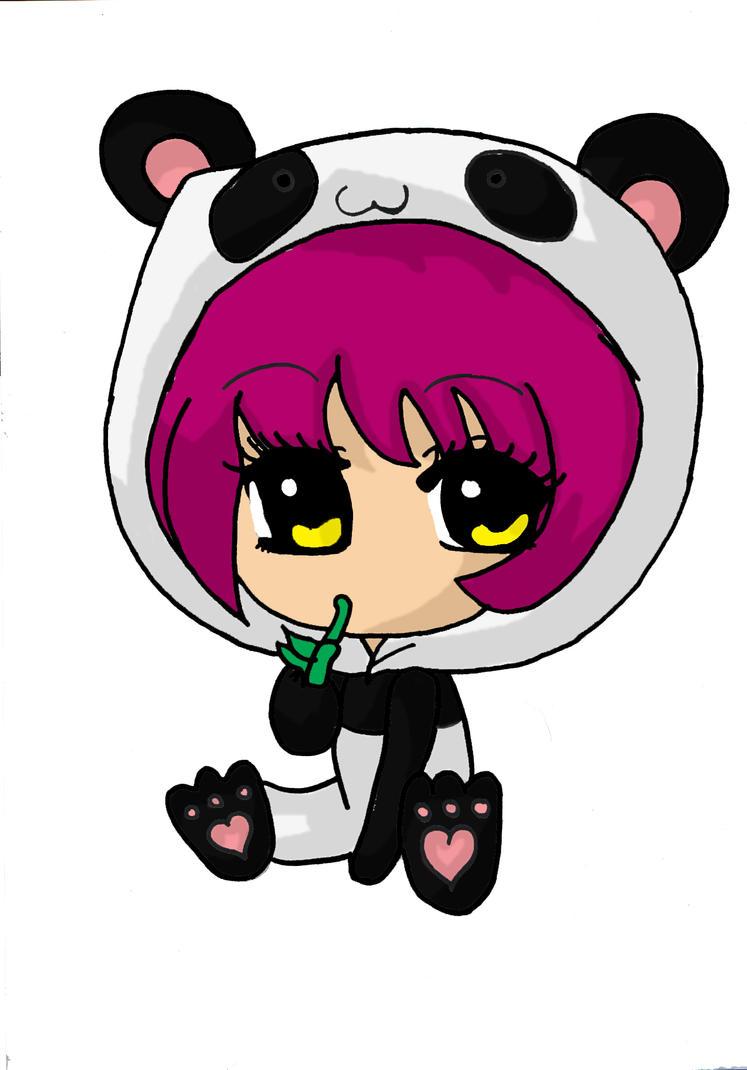 Cute Panda Chibi Girl ...