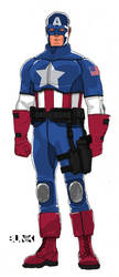 Captain America Redesign by Bunk2