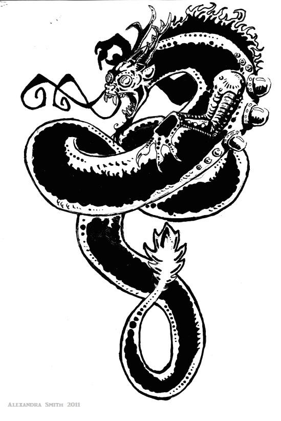Dragon tattoo by macpooky